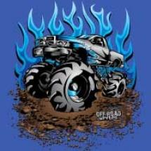 blue-flame-mud-truck