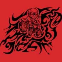 flamed-skully-atv-tattoo