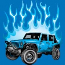 flaming-blue-jeep_design