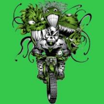 halloween-green-ghoulie-dirt-biker-design