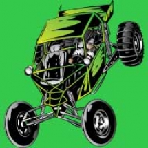 off-road-greeen-dune-buggy-paddle-tires-design