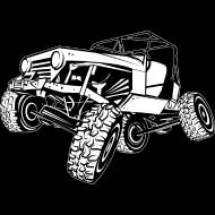 off-road-monster-jeep-white-outline_design