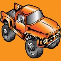 old-orange-truck