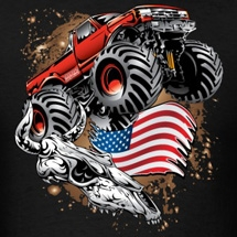 Monster-Truck-USA-Skull