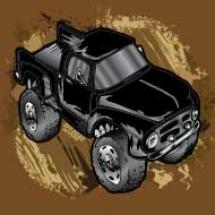 black-ford-mudding-truck_design