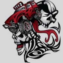 flamed-skulls-truck-design