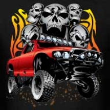 flaming-skulls-race-truck-design
