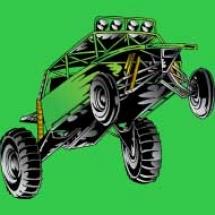 green-dune-buggy