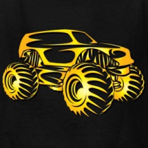 monster-truck-abstract-gold