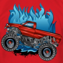 monster-truck-side-blue-fire