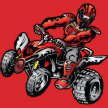 red-offroad-atv