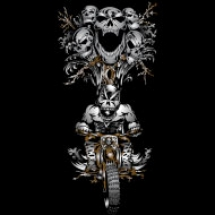 skull-tree-dirt-biker-design